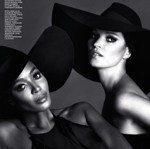 Naomi &amp; Kate  Interview Mag Russia, December 12